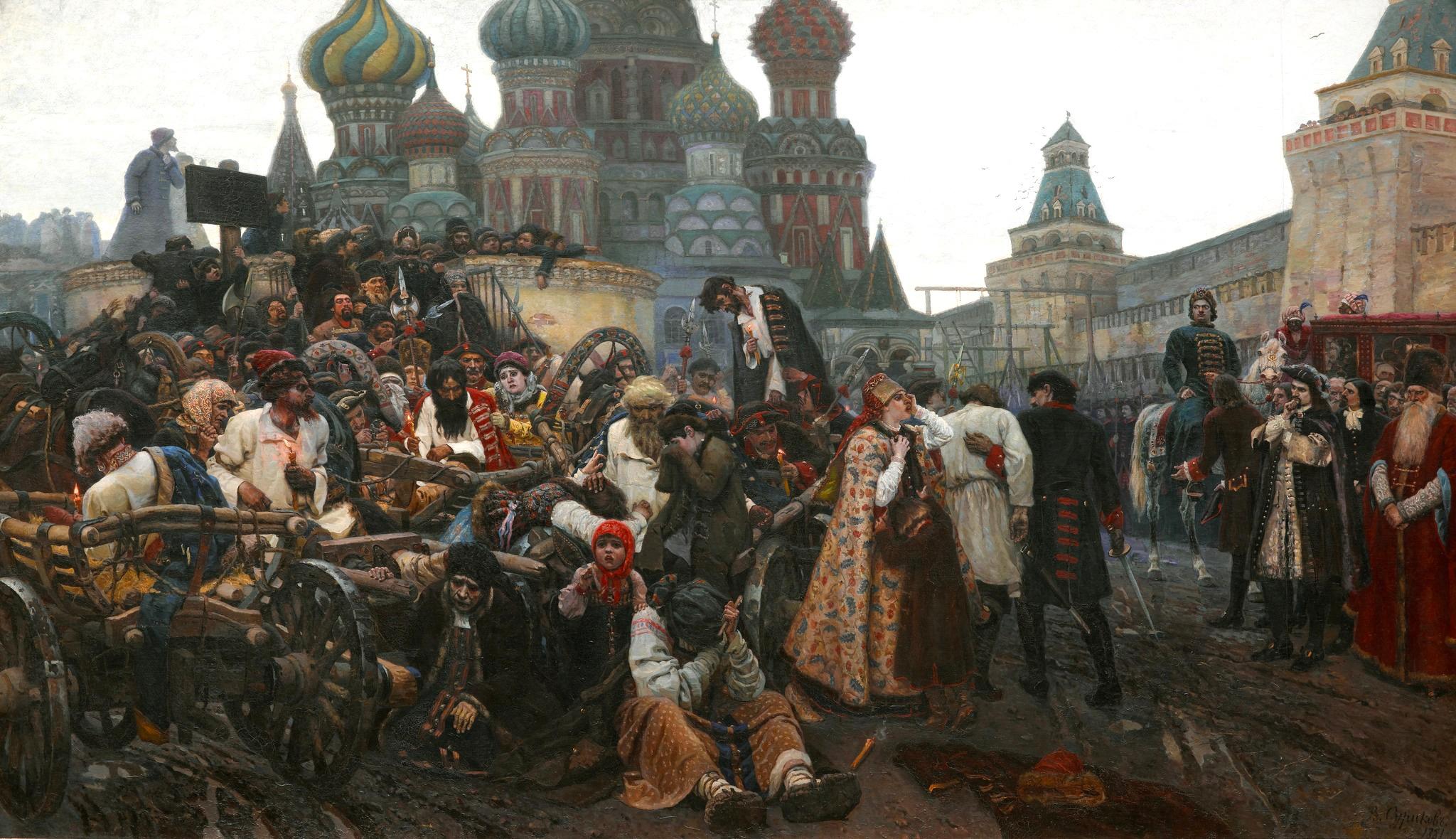 Morning of Execution of Streltsy. Artist Vasily Surikov, 1881.