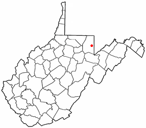 Adapted from Wikipedia's WV county maps by Set...