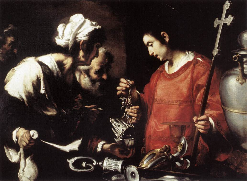 Bernardo Strozzi, The Charity of St Lawrence