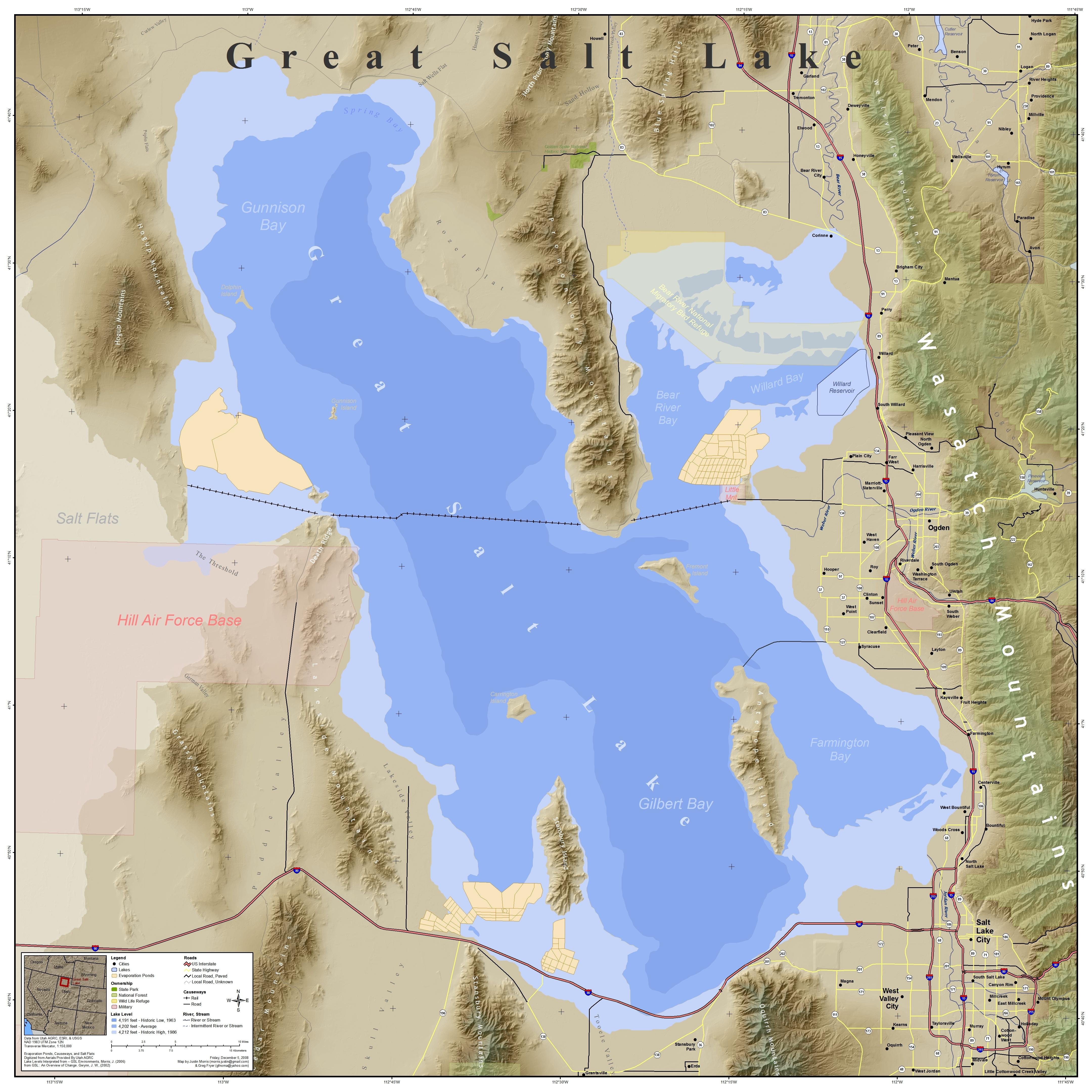 Great Salt Lake Map