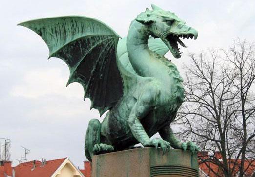 Dragon de la region de Ljubljana