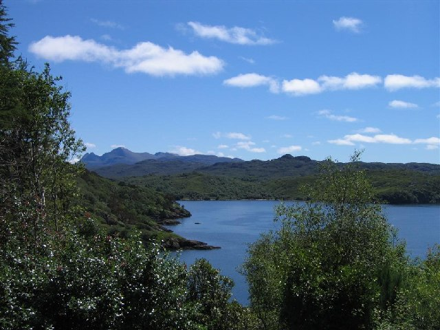 Loch Gairloch, from above Gairloch Harbour. Th...