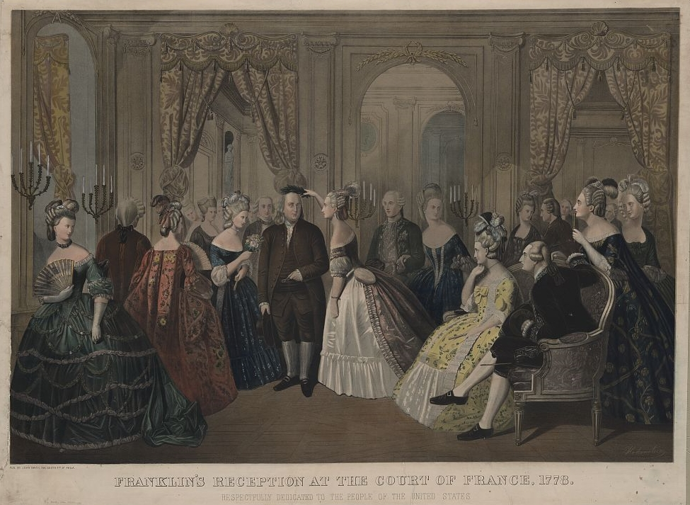 """Benjamin Franklin's reception at the cou..."