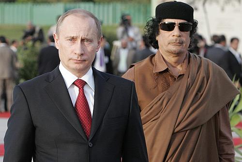putin gaddafi