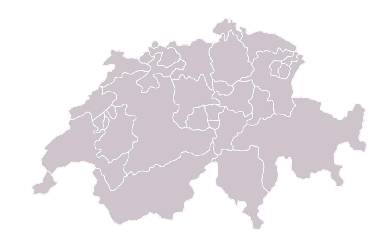 switzerland map blank