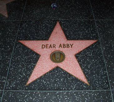 English: Dear Abby star on the Hollywood Walk ...