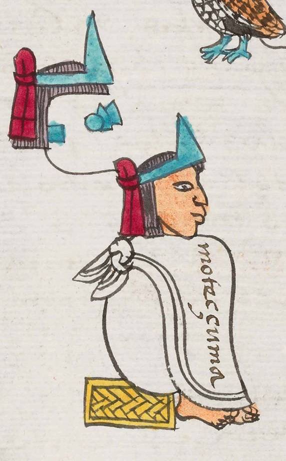 Moctezuma II, from the Codex Mendoza (folio 15v).