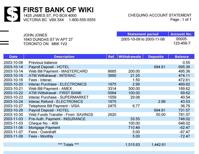 Bank statement - Wikipedia