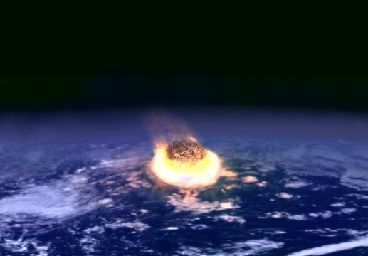 The collision between Earth and an asteroid a few kilometers in diameter may release as much energy as several million nuclear weapons detonating, one after another.