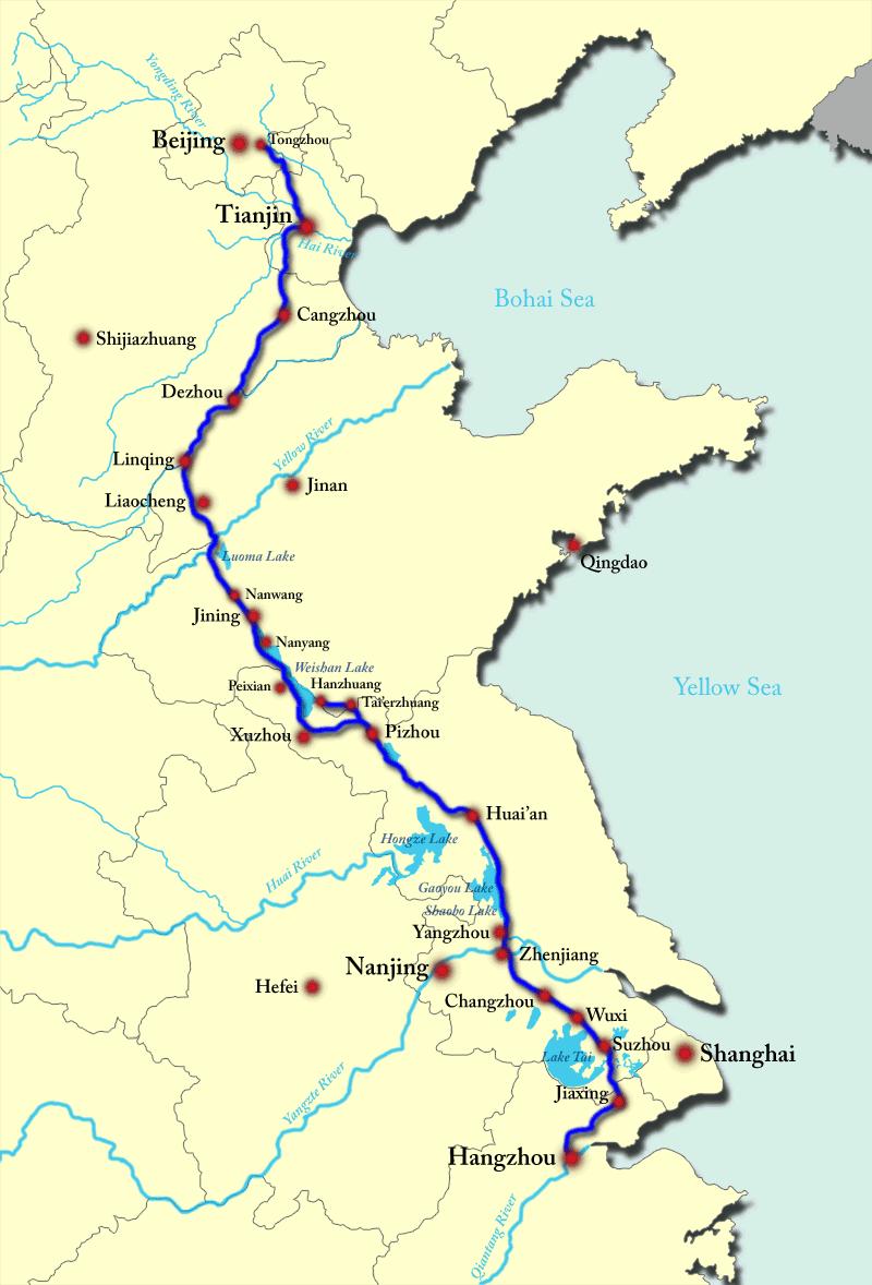 Wielki Kanał - mapa [wikipedia]