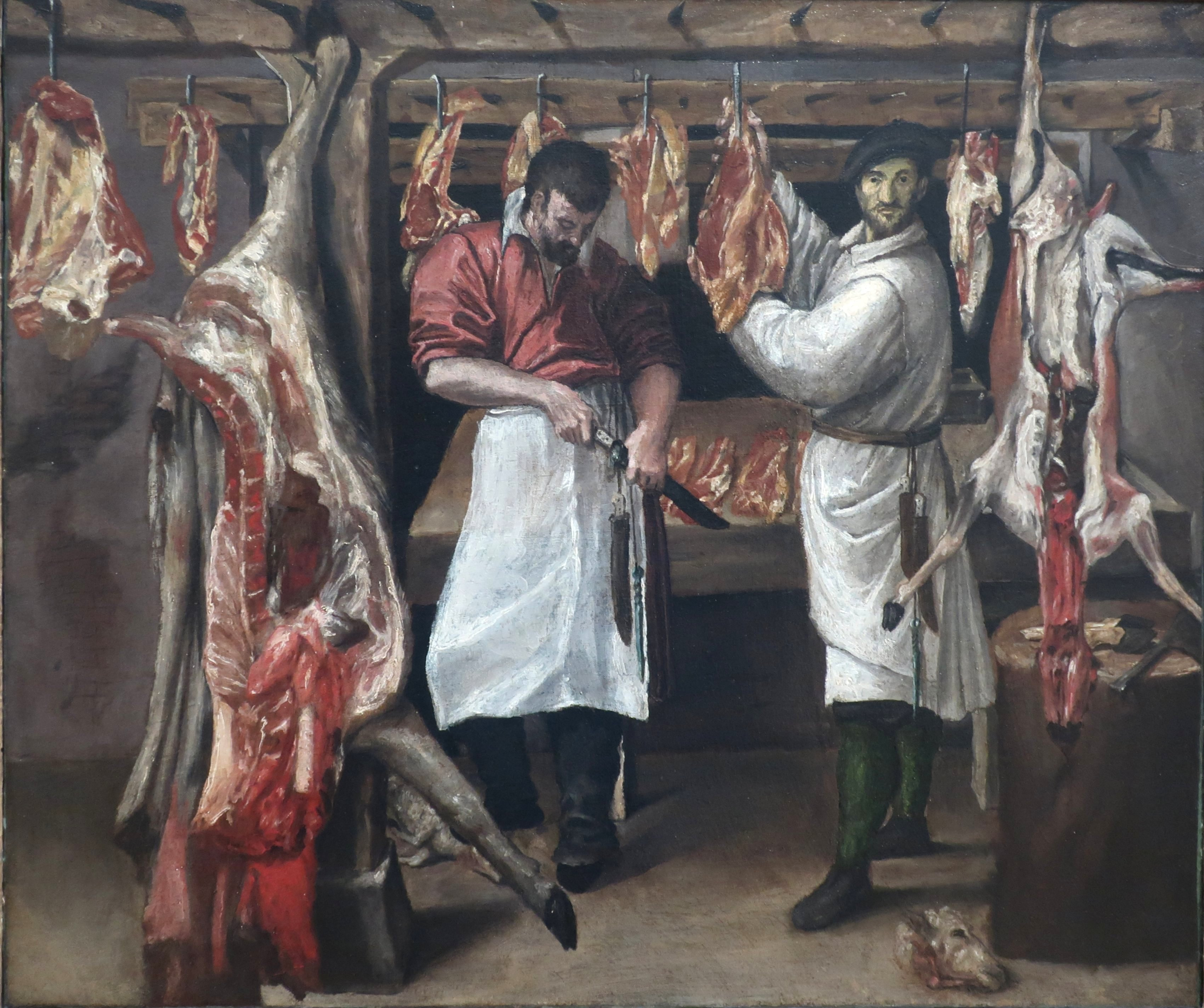 File:'The Butcher's Shop', oil on canvas painting by Annibale Carracci.jpg