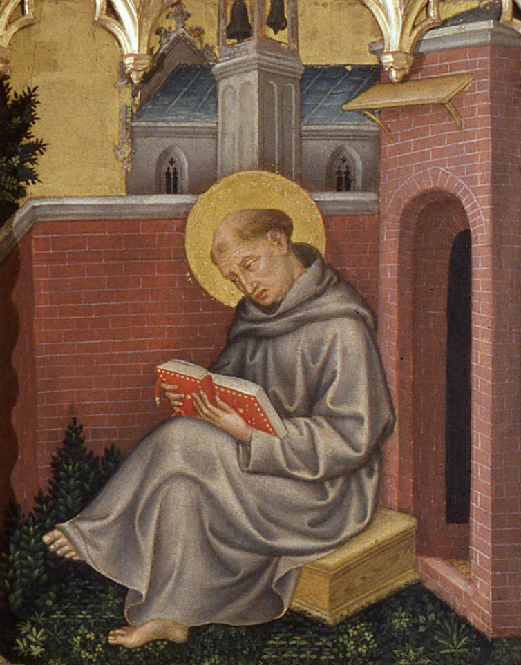 Thomas Aquinas, who had a theory of a light of natural reason, painting by Gentile da Fabriano