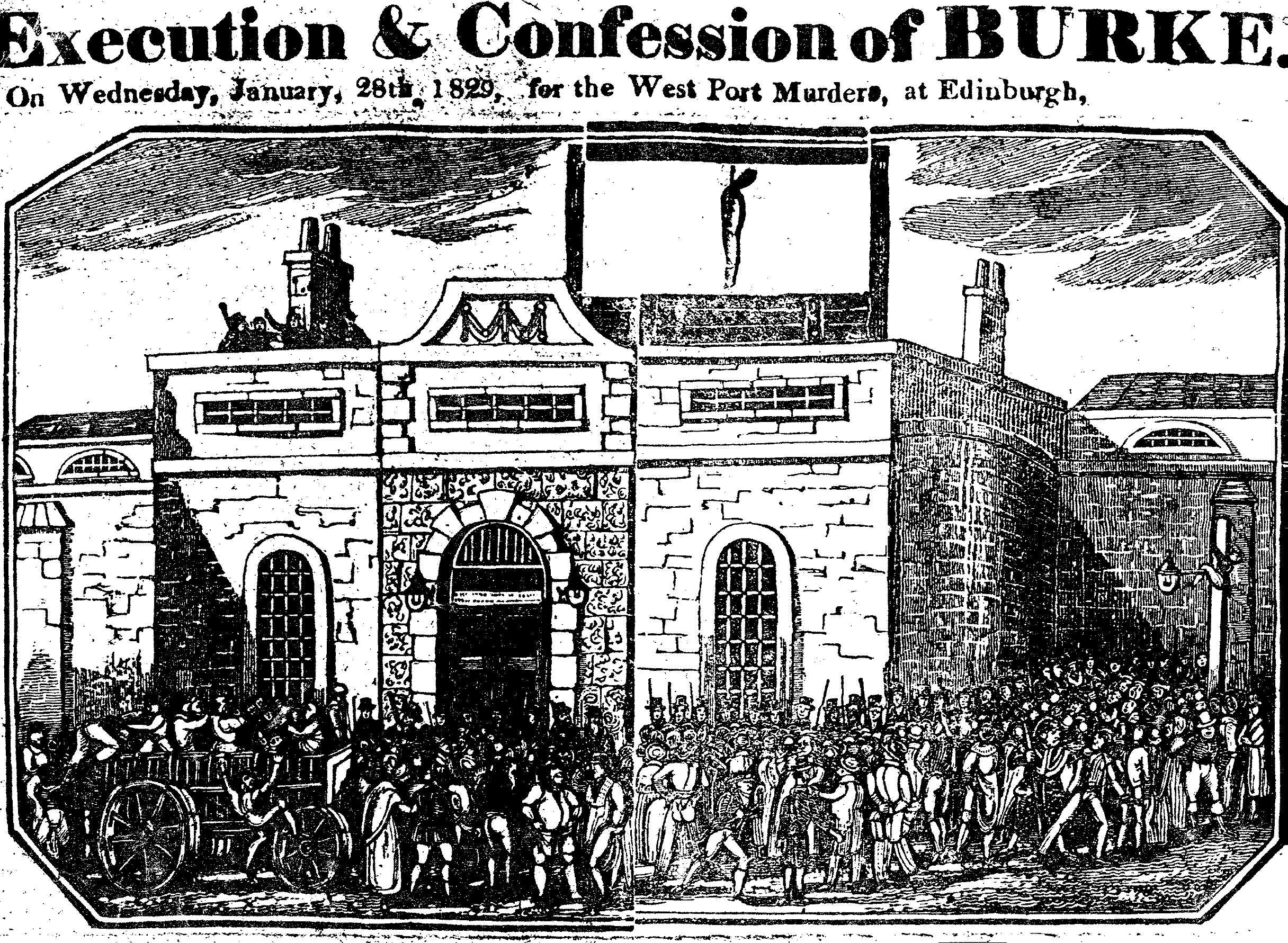 English: Burke's execution in the Lawnmarket, ...