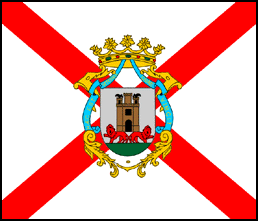 Flag of the city of Vitoria, in Álava (Spain).