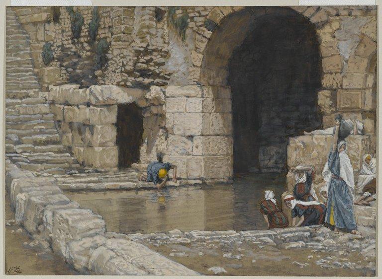 File:Brooklyn Museum - The Blind Man Washes in the Pool of Siloam (Le aveugle-né se lave à la piscine de Siloë) - James Tissot.jpg
