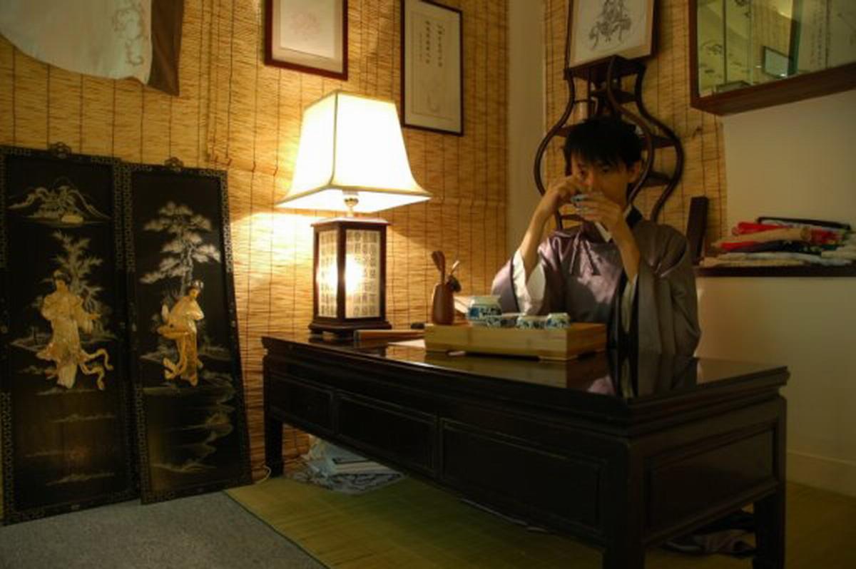 English: Chinese tea ceremony in hanfu