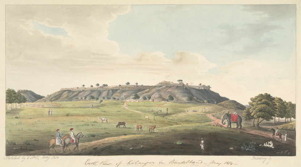 E. view of the Fort at Kalinjar. May 1814