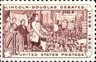 1958 Lincoln-Douglass Debates postage stamp (source: Wikipedia)