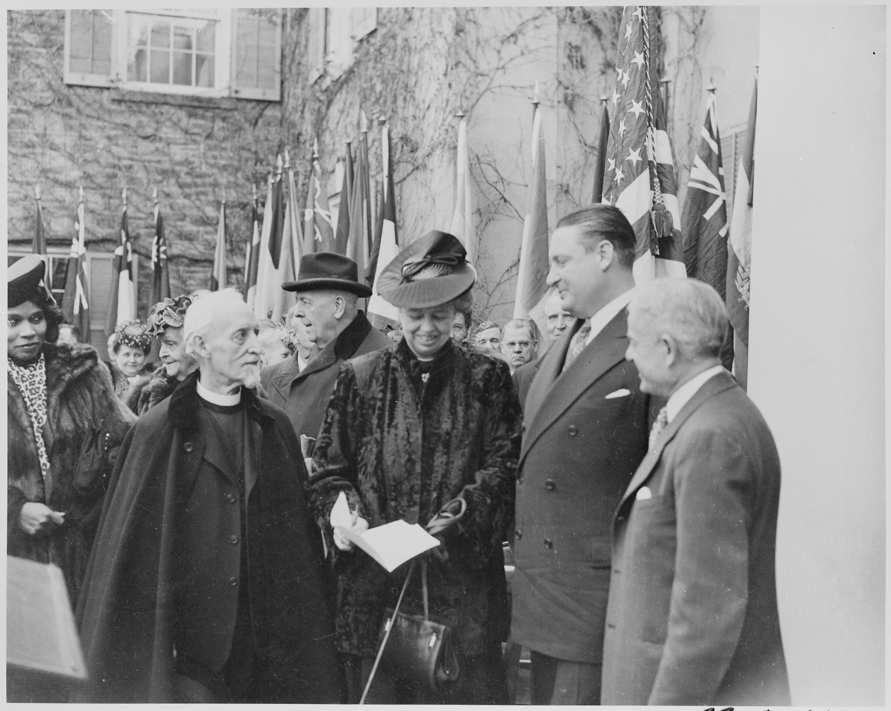 File Photograph Of Eleanor Roosevelt At The Dedication Of
