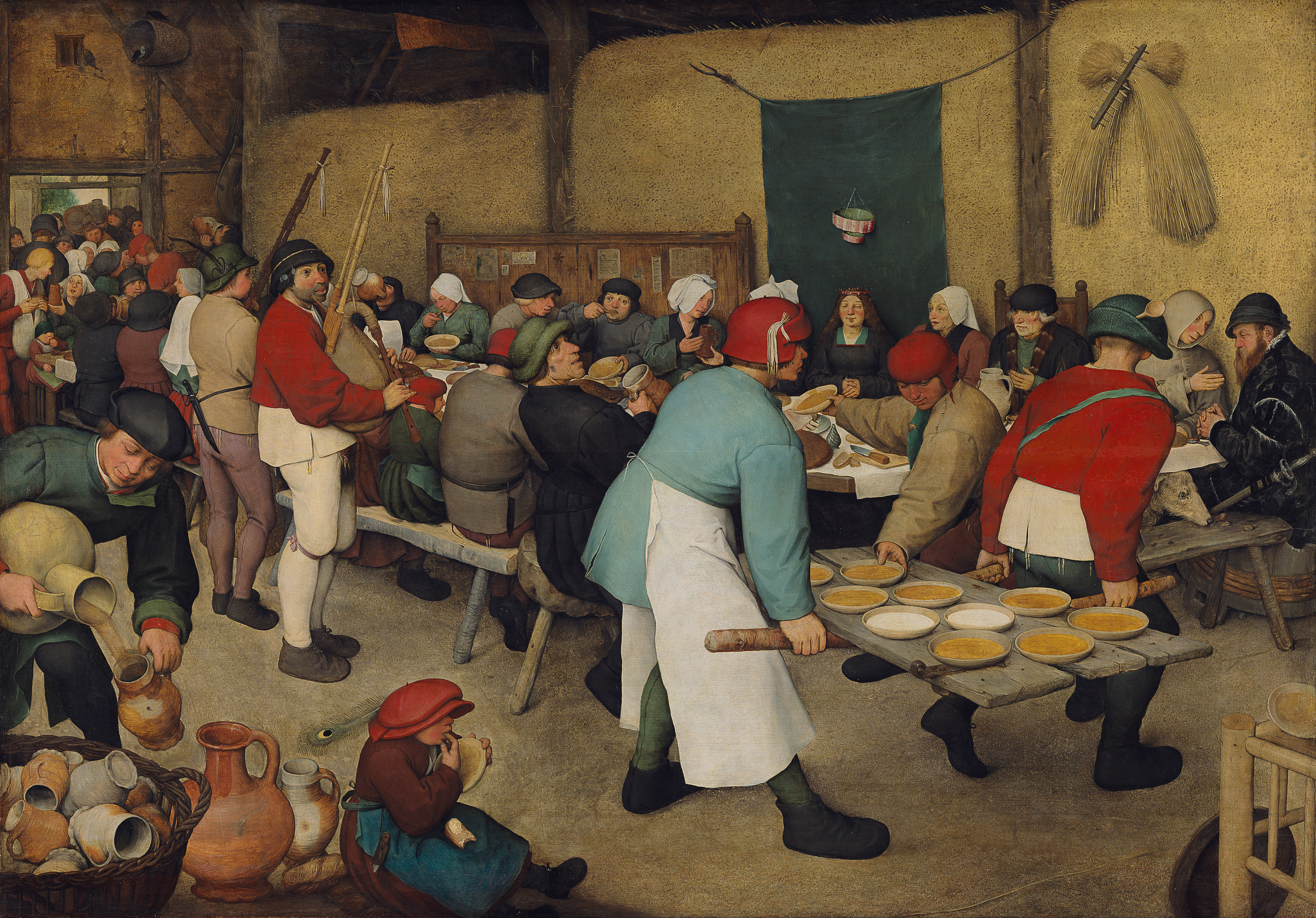 The Peasant Wedding, a 1567 or 1568 painting b...
