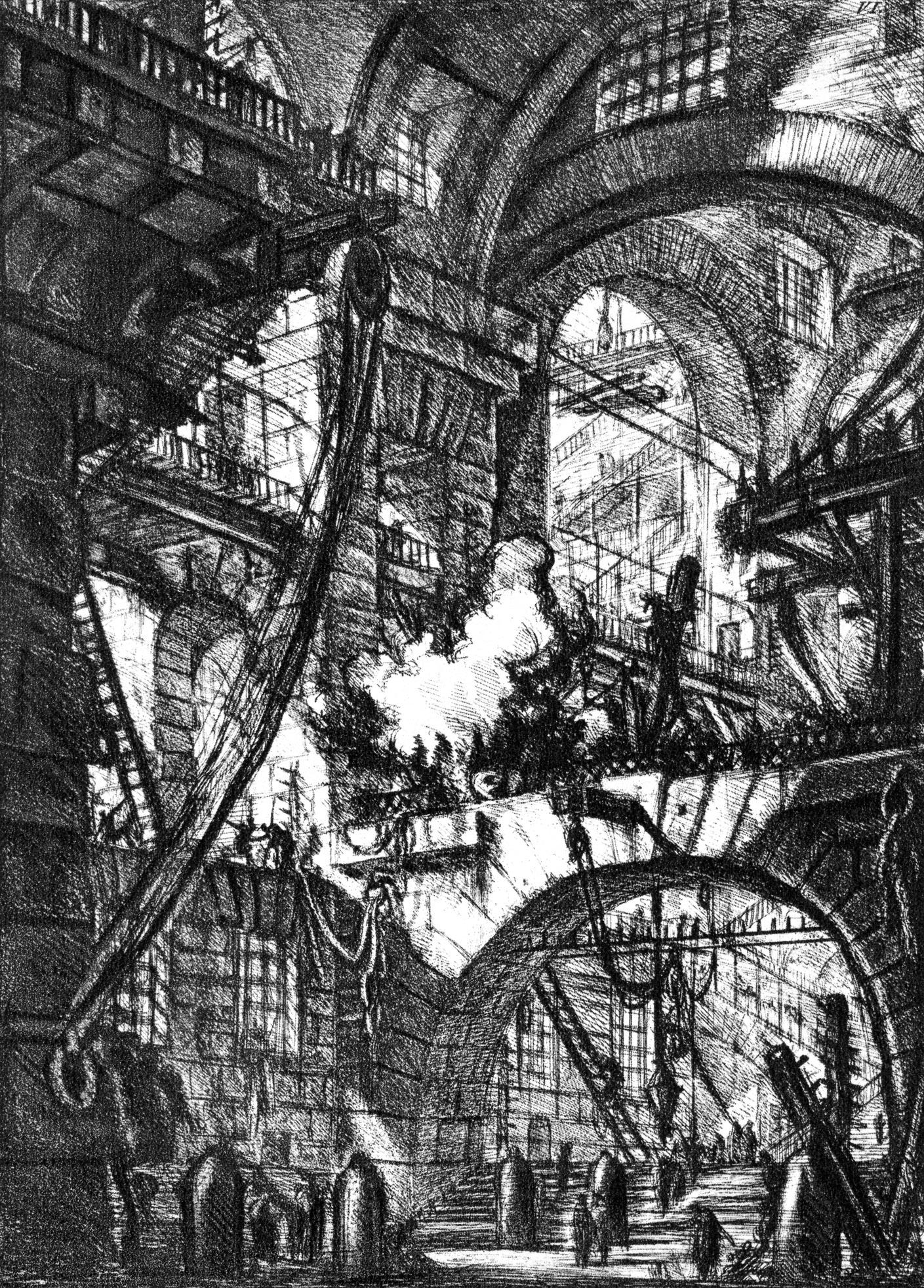 Piranesi - Le carceri dinvenzione (fonte Wikipedia)