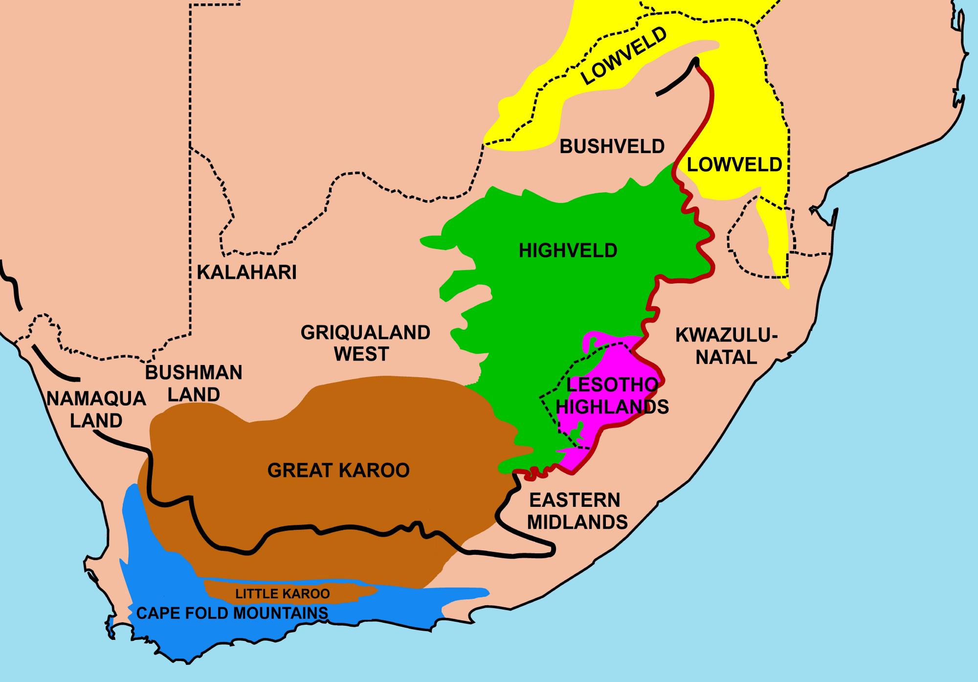 Geografie Van Suid Afrika