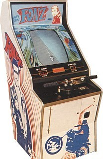 English: fonz 1976 sega arcade cabinet from my own collection