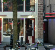 Red light district of Amsterdam in May 2000