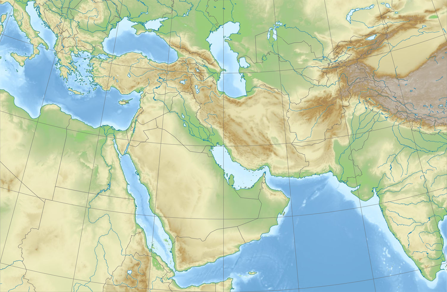 File Relief Map Of Middle East
