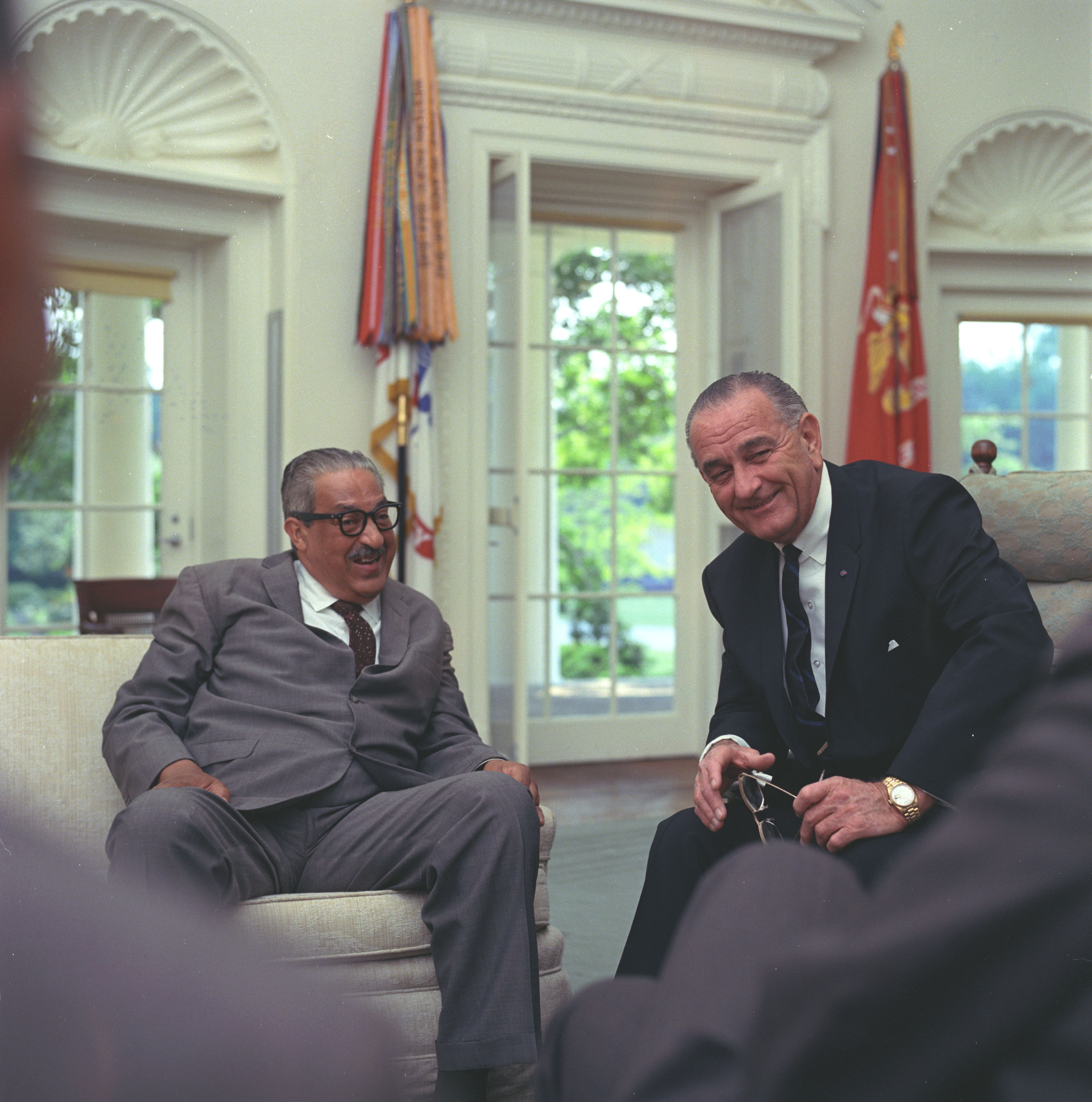 Thrugood Marshall and President Lyndon Johnson