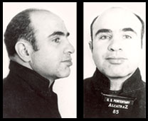 Al Capone while incarcerated at Alcatraz.
