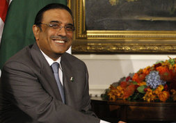 English: President Asif Ali Zardari of Pakista...
