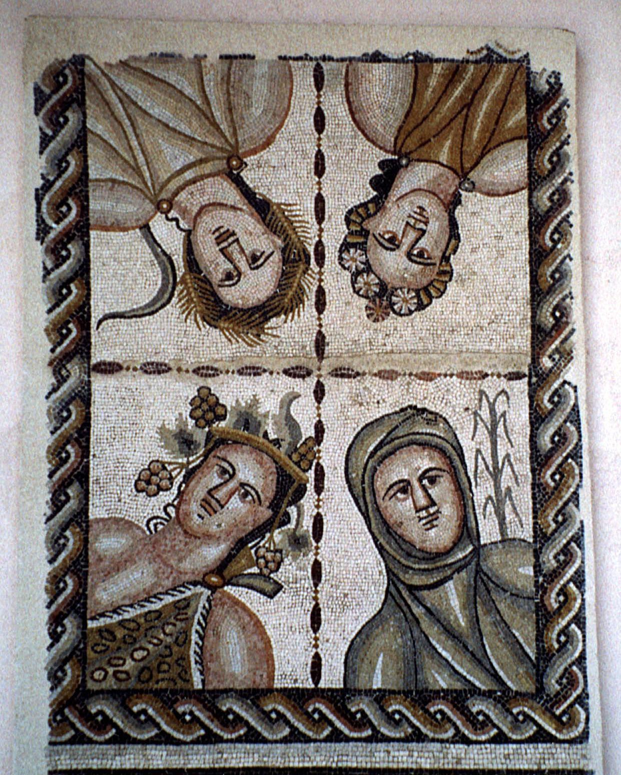 Mosaic romà representant les quatre estacions