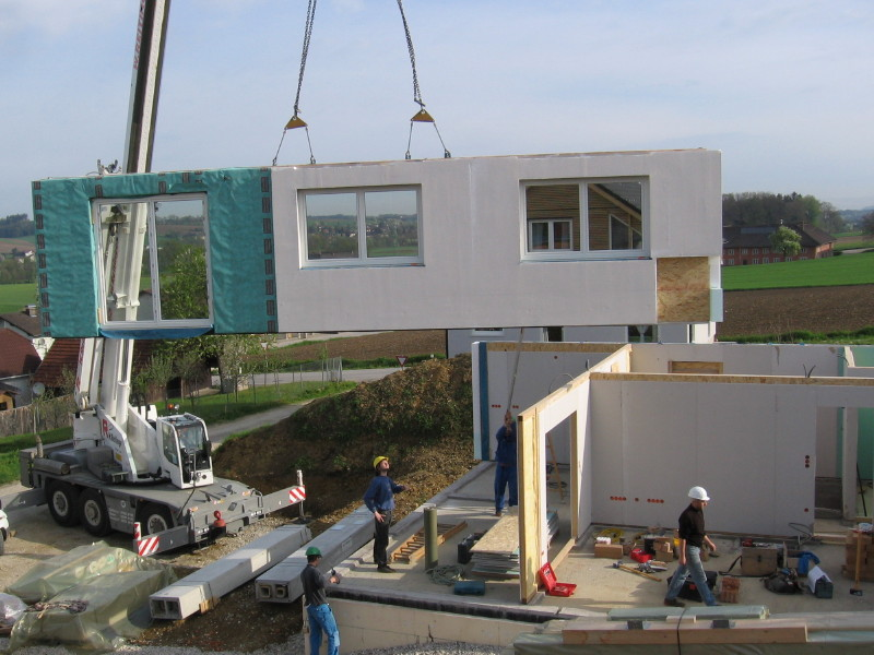 Precasting concrete installation