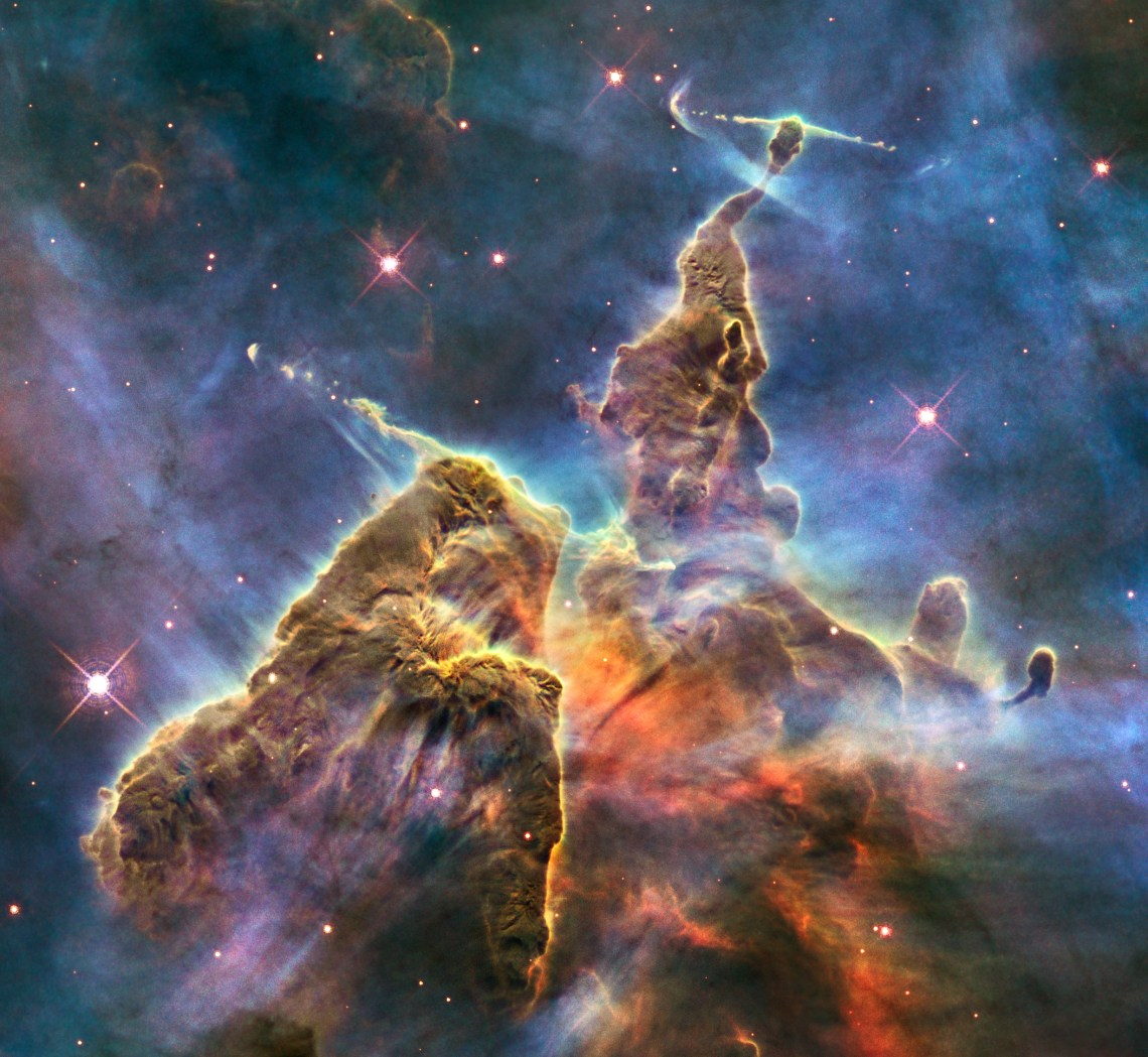HH 901 and HH 902 in the Carina nebula (captured by the Hubble Space Telescope) Dynamic Wallpaper Iphone 5
