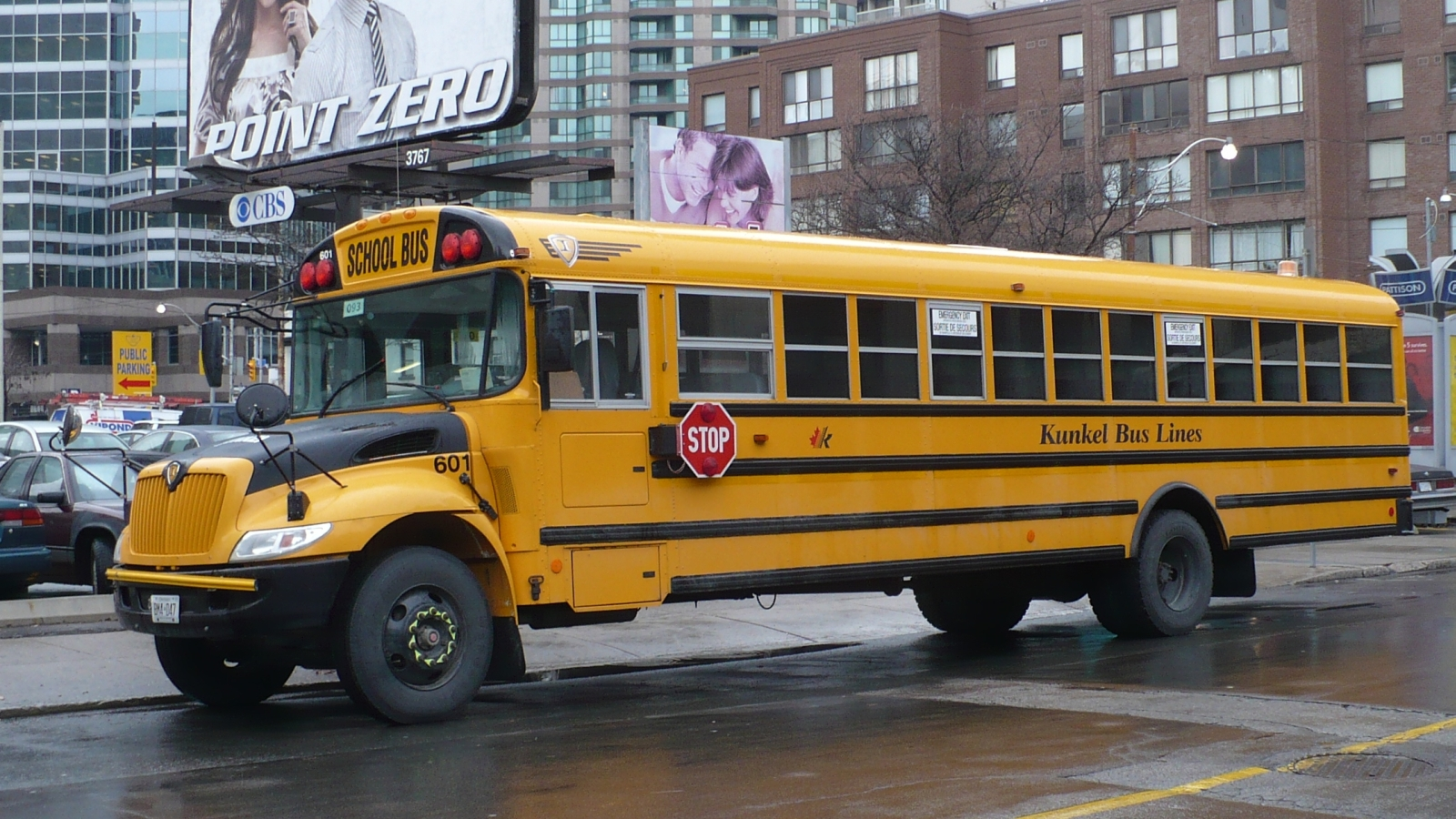 English: Kunkel Bus Lines yellow school bus