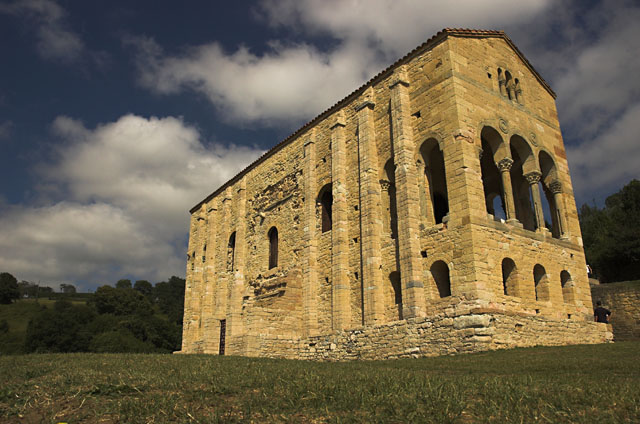 Santa Maria del Naranco, near Oviedo, previously the royal palace of Asturias, probably built for Ramiro I