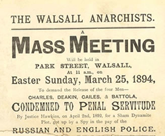Poster advertising a meeting in support of the...