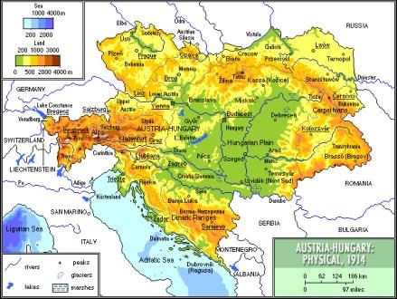 Mapa Austro-Węgier
