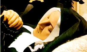 a picture of saint Bernadette's face