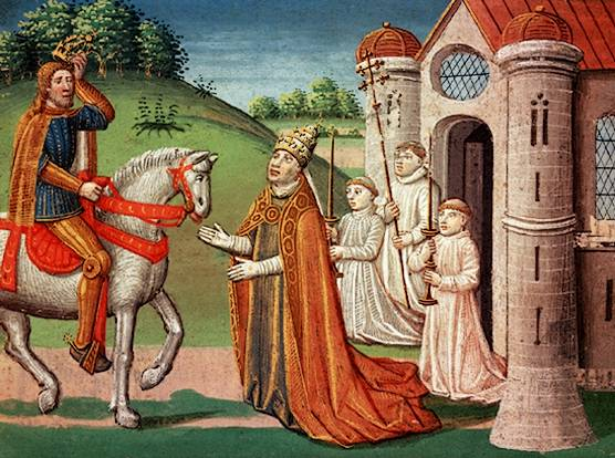 Archivo:Charlemagne and Pope Adrian I.jpg