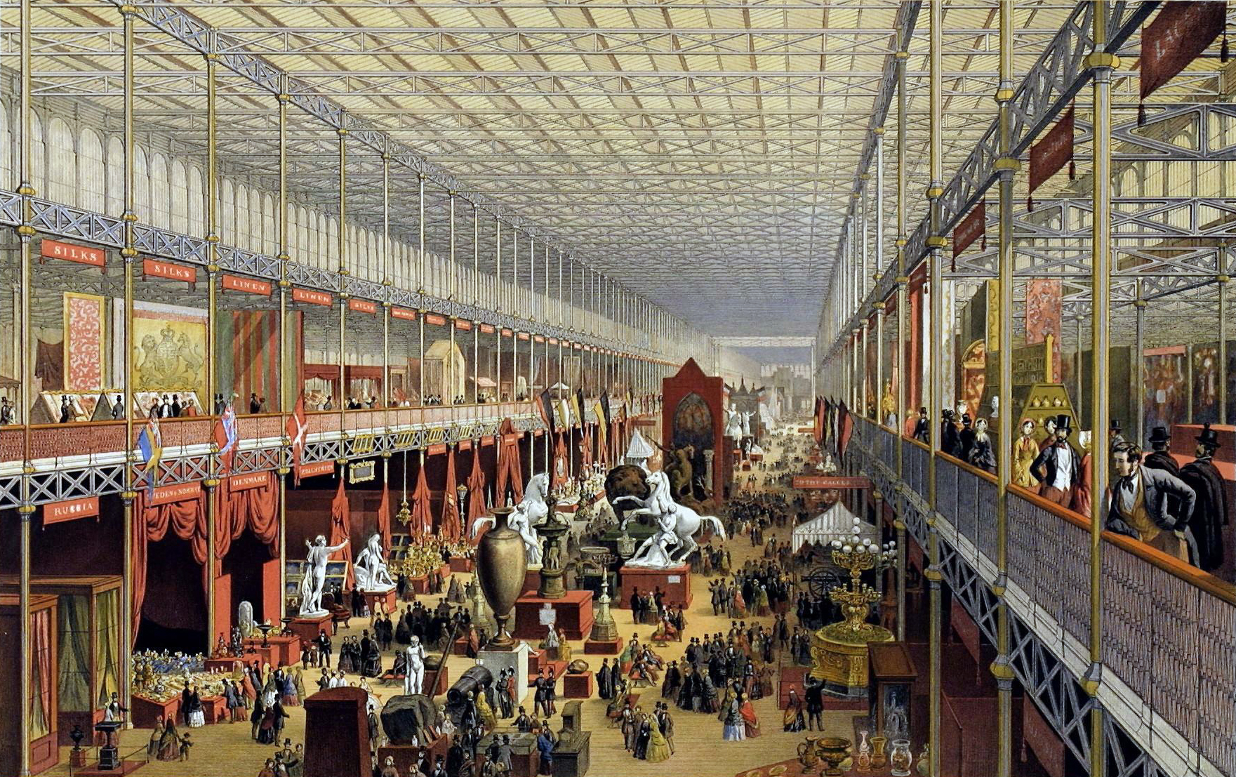 The Great Exhibition in London,The United Kingdom,was the first country in the world to industrialise.