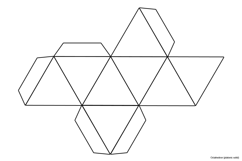 File Foldable Octahedron Blank