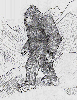 English: Sasquatch Yeti Bigfoot Bugerbear Yowie
