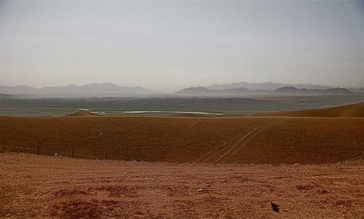 COP Shukvani overlooking Sangin, Afghanistan