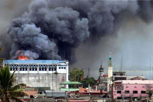 Bombing on Marawi City