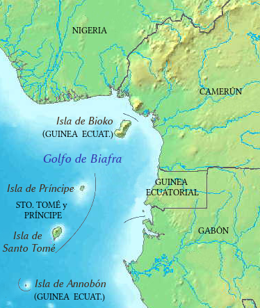 Resultado de imagem para bioko mapa