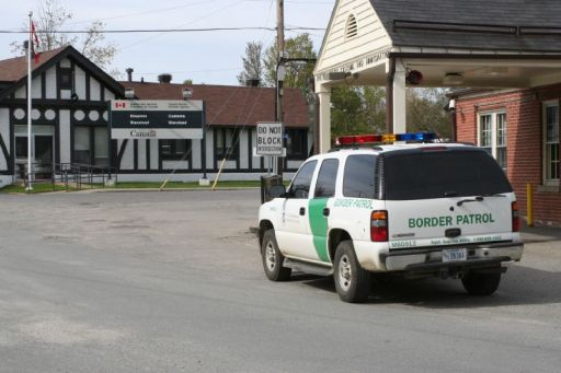 Border Patrol at Canadian border in Beebe Plain, Vermont