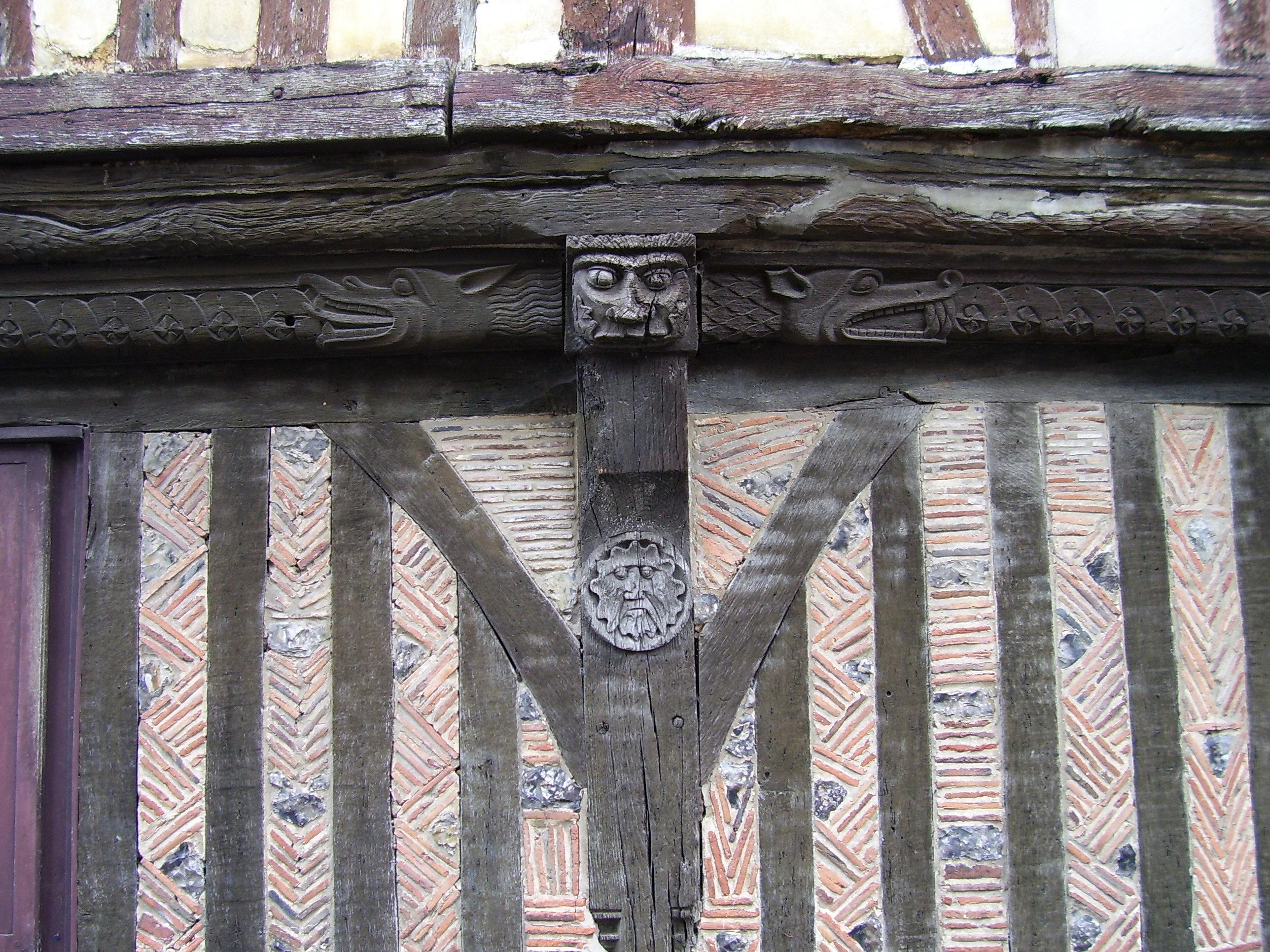 timber framed façade