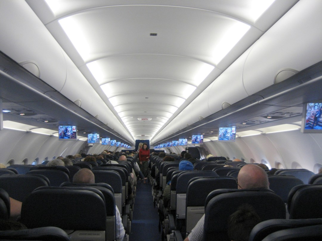 A short haul Euro Traveller cabin- great travel tips and tricks